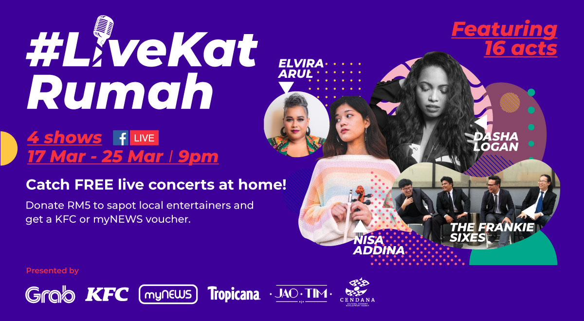 CENDANA Joins Forces with Grab for #Livekatrumah Initiative to Support Artists Affected by the Pandemic - Life is Ohsem