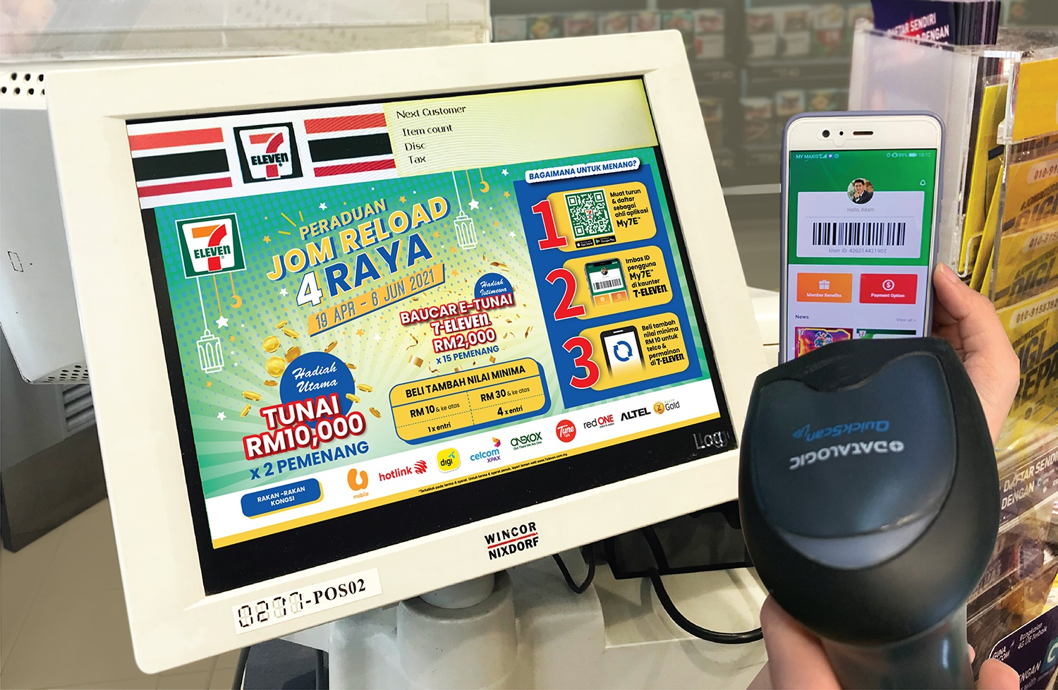 Jom Reload 4 Raya at 7-Eleven With RM50,000 in Prizes Up For Grabs